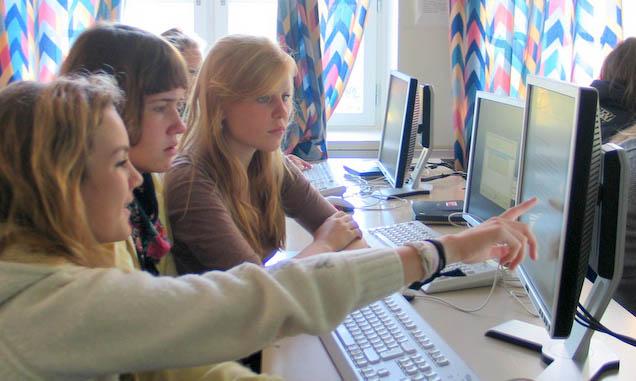 Unge, lovende journalister i første året med Ris Avis (2007)