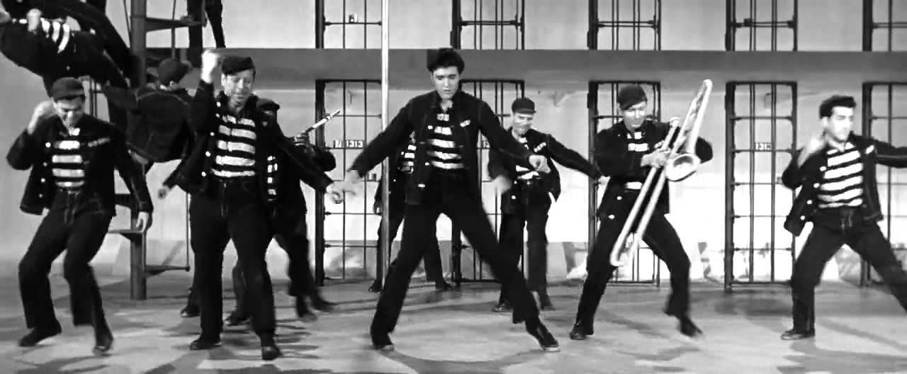 Bilde fra Elvis Presleys kjente sang Jarlhouse rock