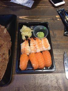 Sushi fra Obento box for 69,- helt fersk!